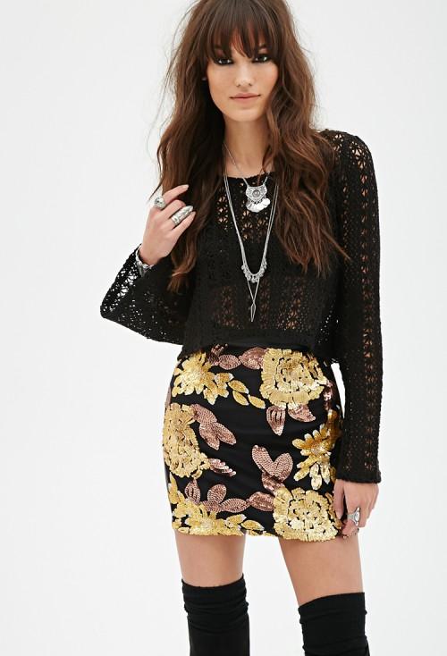 f21 sequin skirt
