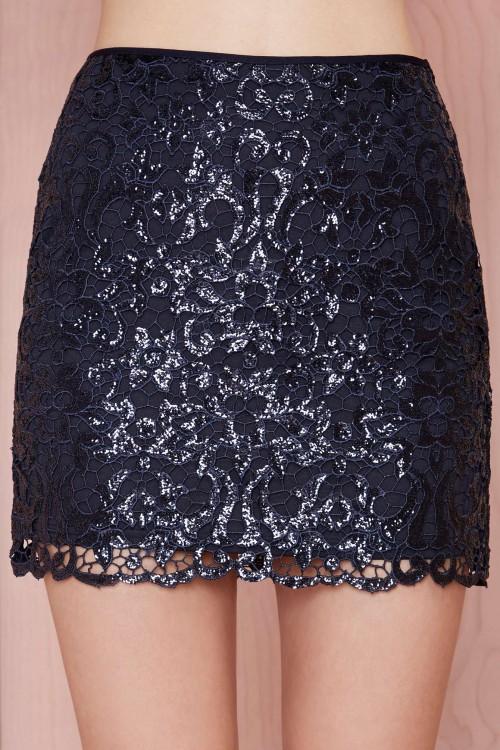 nasty gal sequin skirt
