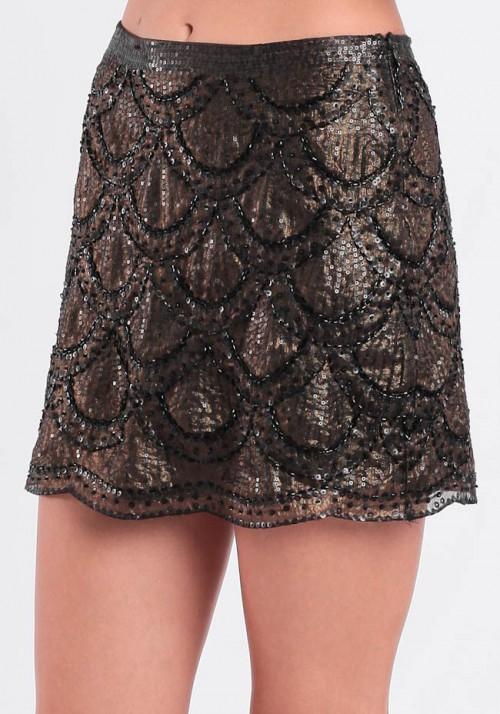 threadsence sequin skirt