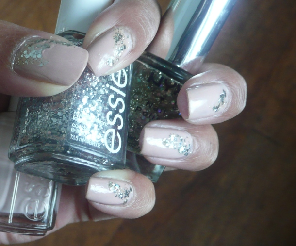 essie Topless and Barefoot mani