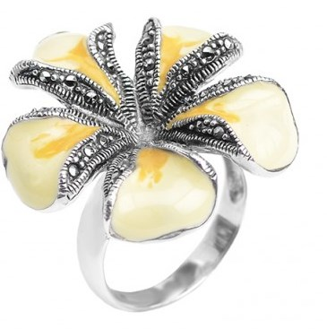 yellow-enamel-flower-ring