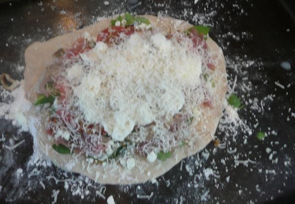 assembled sheet pizza